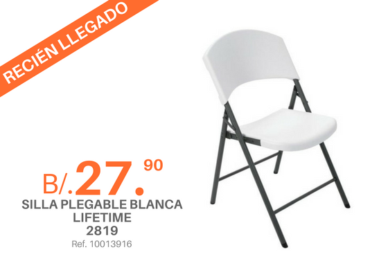 Promociones franklin jurado for Silla plegable blanca